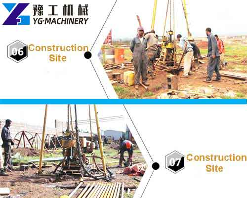 Core Drilling Rig Construction Site