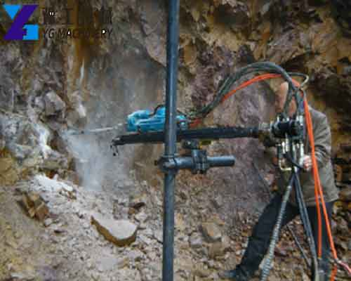 Application of Pneumatic Rock Drill