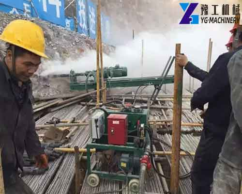 Use of Anchor Drilling Rig