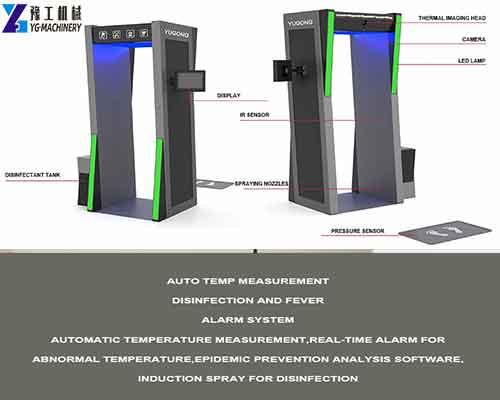 Temperature Measurement Disinfection Door