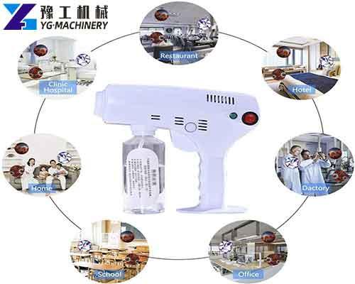 Application of Disinfection Nano Spray Gun